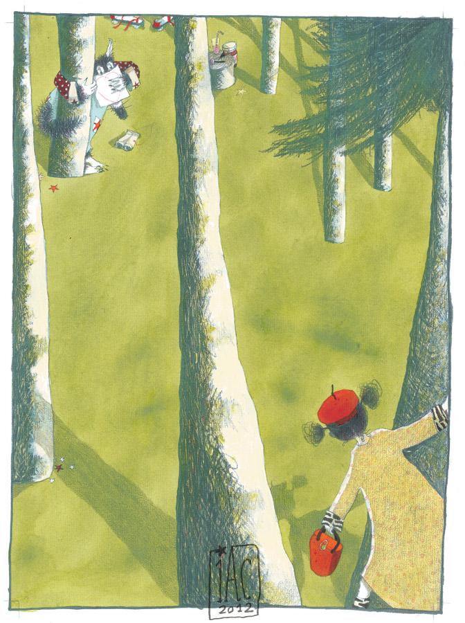 Le grand lougoudou et le petit chapeau rond rouge